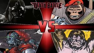 DC Gorilla Villains Battle Royale