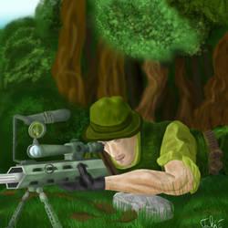 Sniper in forrest