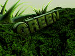 C4D - 'Green' typography by b4ddy
