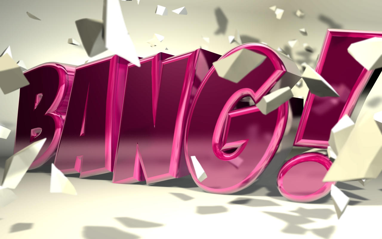"C4D - ""Bang"" Typography by b4ddy"