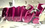 C4D - 'Bang' Typography by b4ddy
