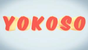 C4D - Yokoso Typography by b4ddy