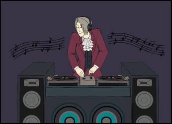 Edgeworth _Sim DJ_ by MintyDreams7