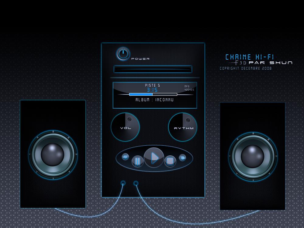 chaine hi fi f3d by shun arts on deviantart. Black Bedroom Furniture Sets. Home Design Ideas