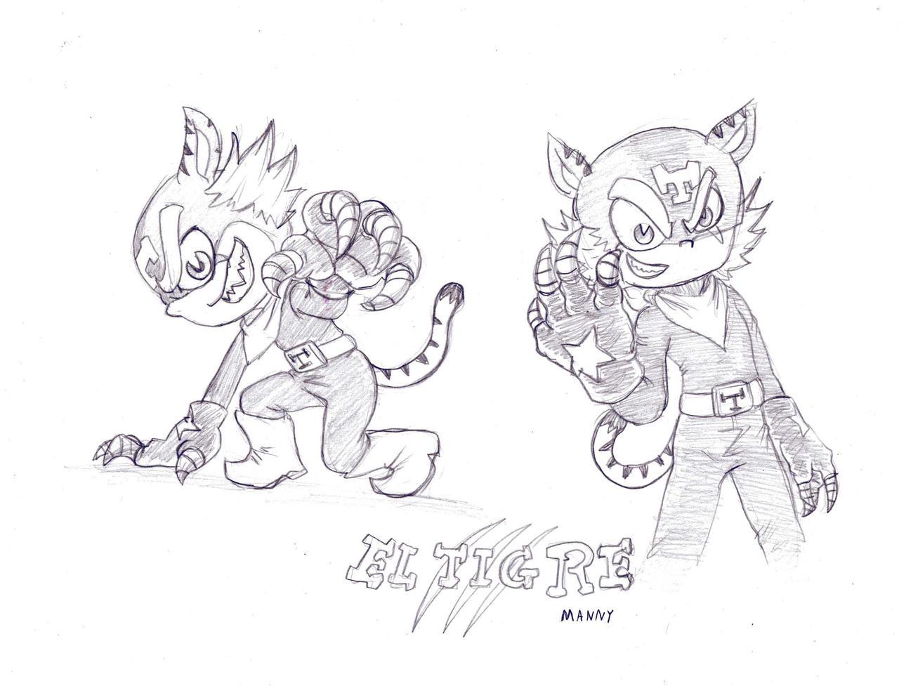 Tigre Sketch: El Tigre: El Tigre Sketch By Rubtox On DeviantArt