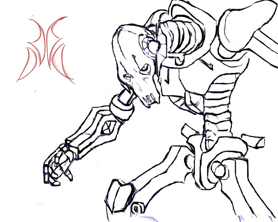 General grievous sketch by rubtox on deviantart for General grievous coloring page