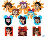 Cartoon Girls Portraits