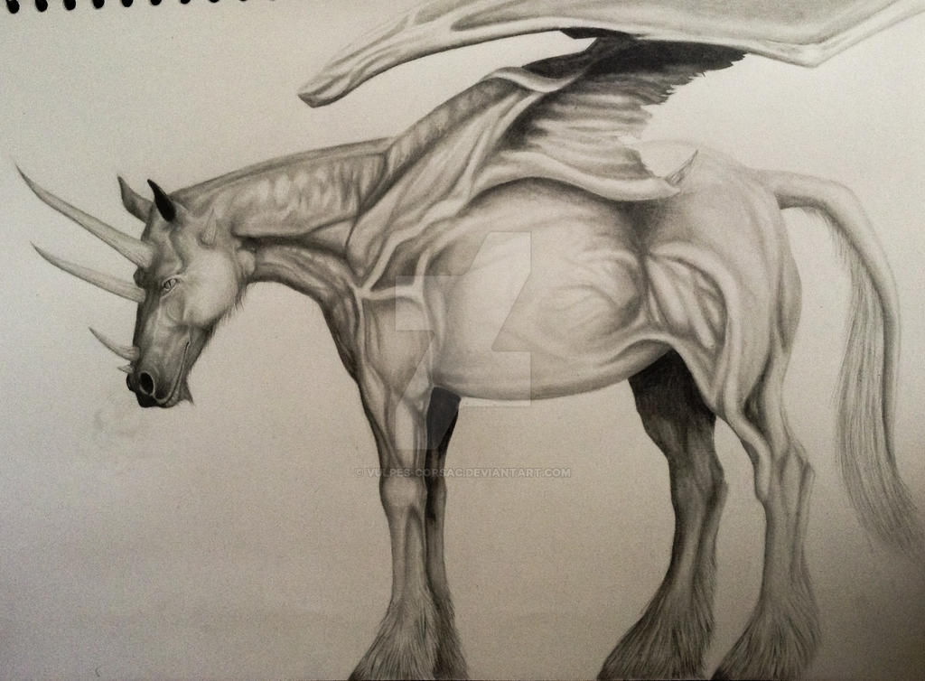 Equine Dragon (near enough finished) by Vulpes-Corsac