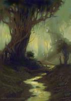 Elven Settlement.Taurtiris by Sasha3