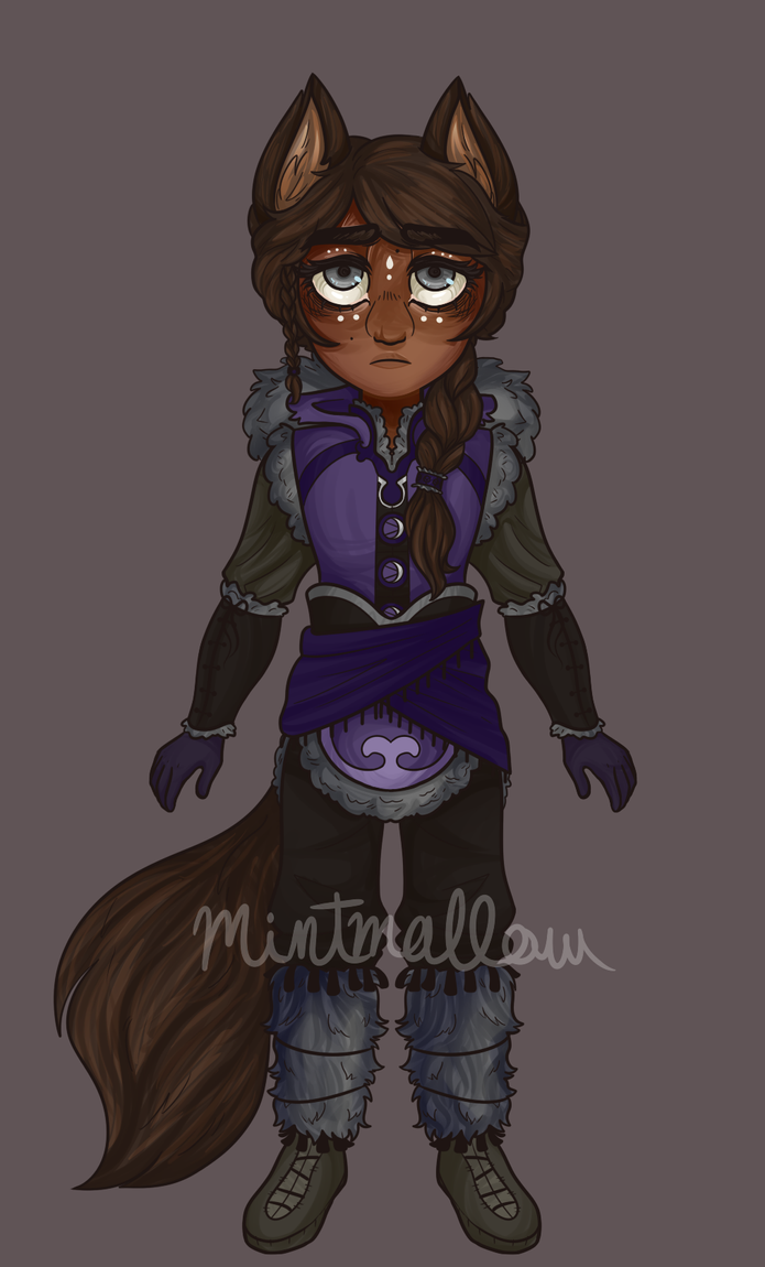 [CLOSED] Emergency Adoptable #16 - Brown Wolf by Mintymallow