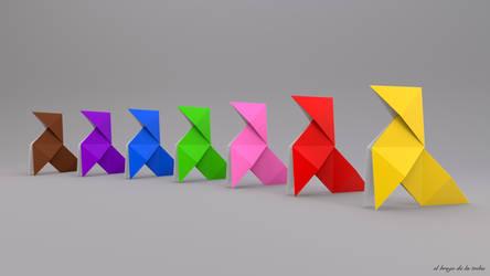 Paper Birds by elbrujodelatribu