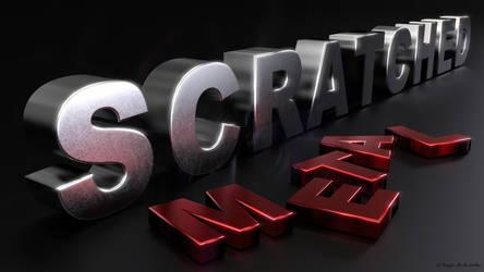 Scratched Metal Letters by elbrujodelatribu