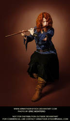 Redhead Playing Flute