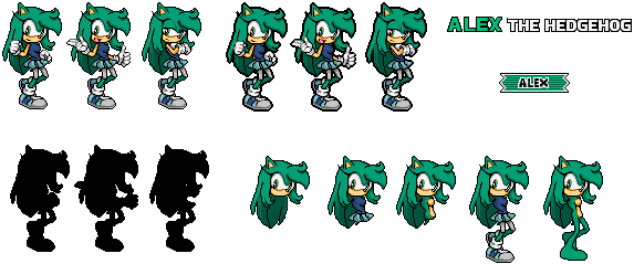 Alex sonic advance 3 UPDATED by MagicalPouchOfMagic on DeviantArt