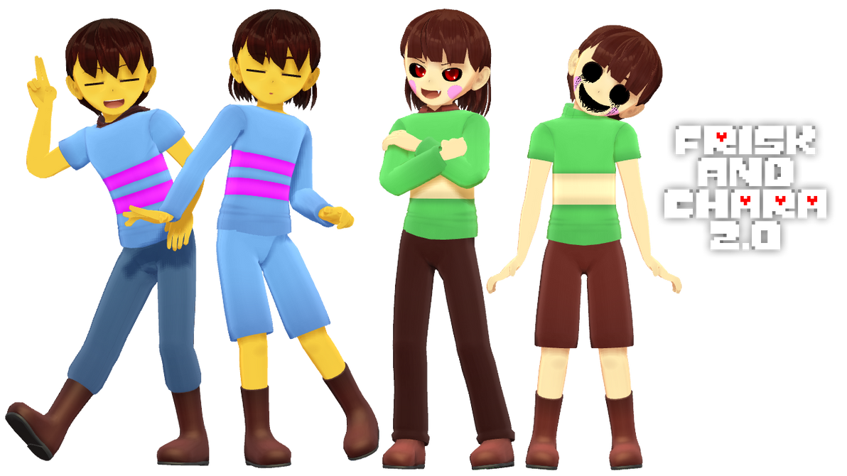 Mmd Undertale Frisk And Chara 2 0 By Magicalpouchofmagic