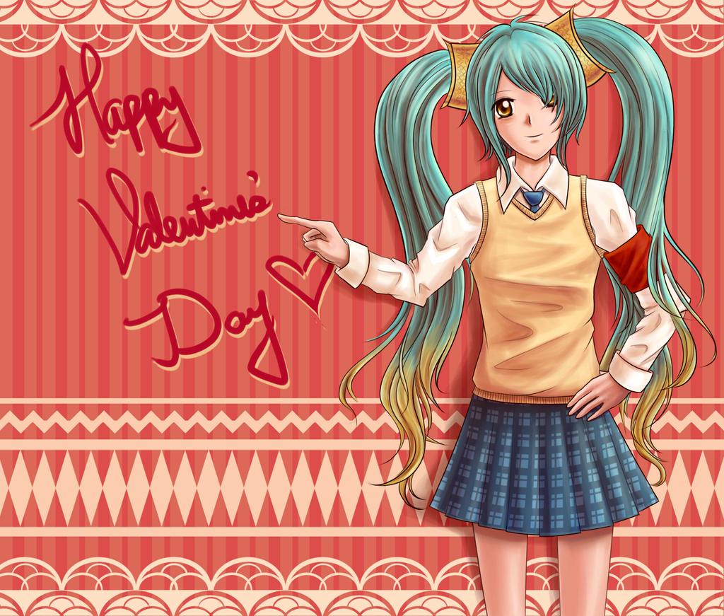 Sona - Happy Valentines Day 2013 by oddish-enigma