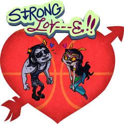 pail day STRONG LOV-E by wafflebat