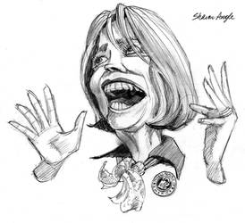 Sharon Angle Caricature