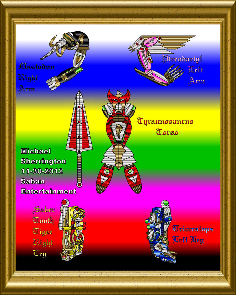 MMPR Dino Zords Transformed Updated By ChronicleMS On