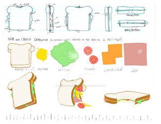 Sammich Animation Prop design