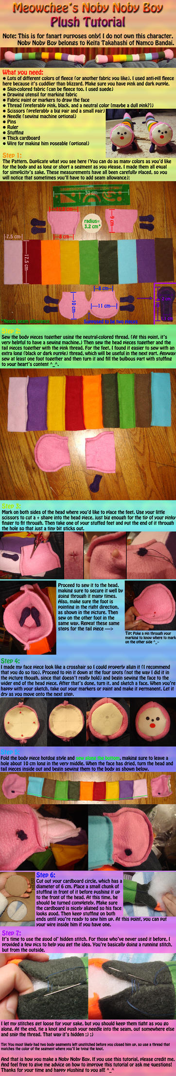 Noby Noby Boy Plush Tutorial by Meowchee