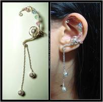 Elegant Curved Ear Cuff by Meowchee
