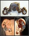 Steampunk Big Gear ear cuff
