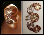 Steampunk Curly ear cuff