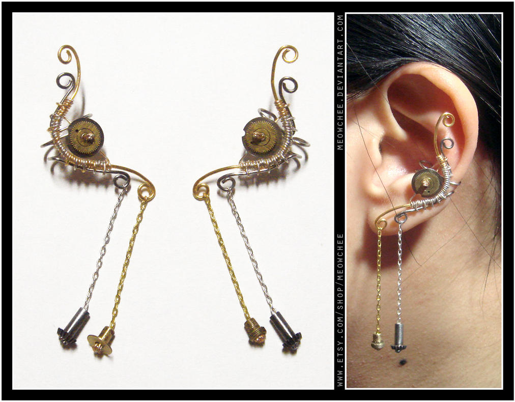 Gold 'n' Silver ear cuffs by Meowchee