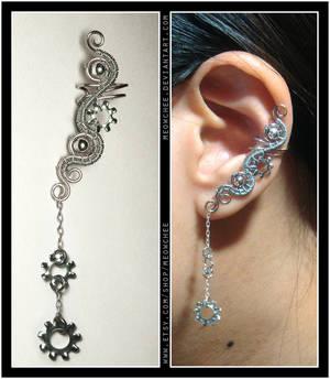 Lock Washer ear cuff