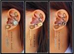 Steampunk Clock Hand ear cuffs