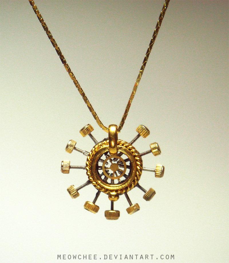Clockwork Pendant by Meowchee