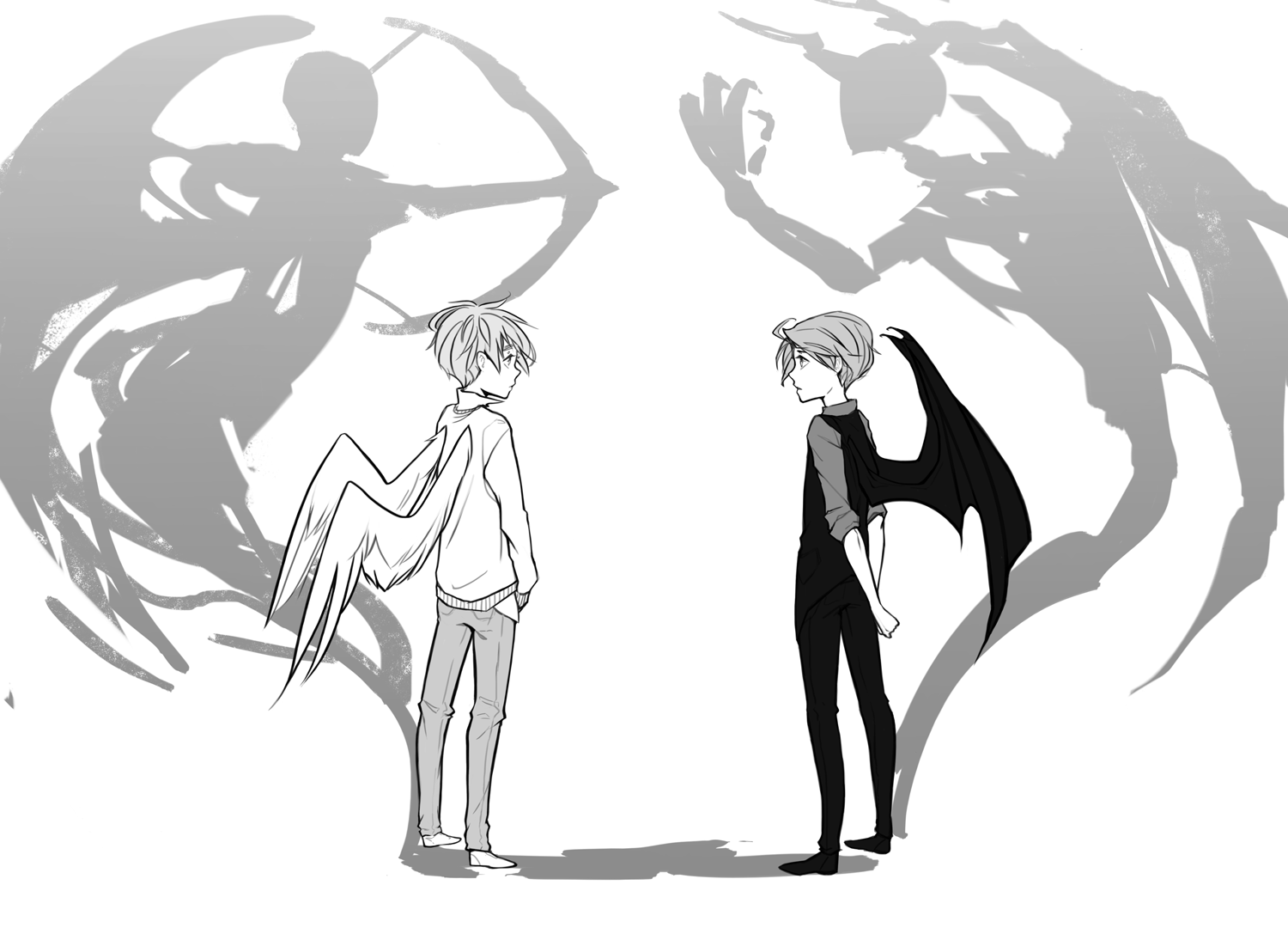 Angels and Demons AU by SilentSeven on DeviantArt