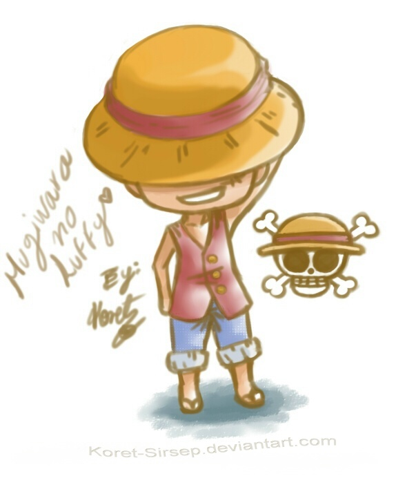 One Piece - Chibi_Luffy by Koret-Sirsep