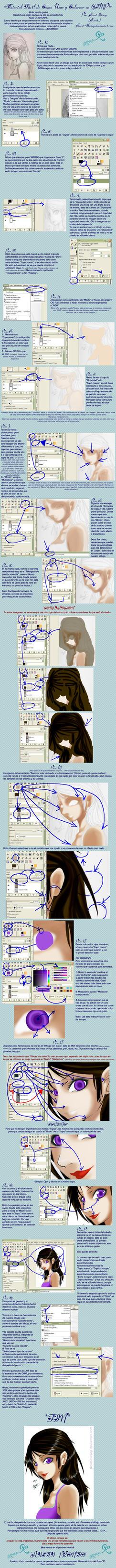 Tutorial Facil de Como Usar y Colorear en GIMP by Koret-Sirsep