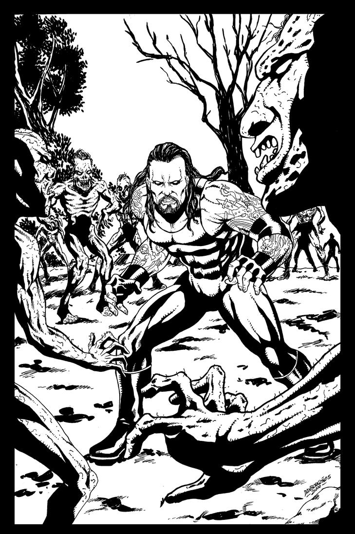 Undertaker sample page01 by danborgonos on deviantart for Coloring pages of the undertaker