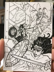 Supergirl Sketch Card