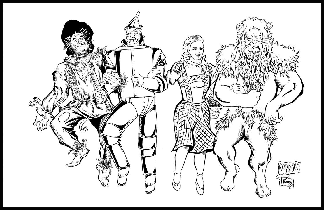 wizard of oz coloring pages dorothy - wizard of oz by pradoinkworks on deviantart