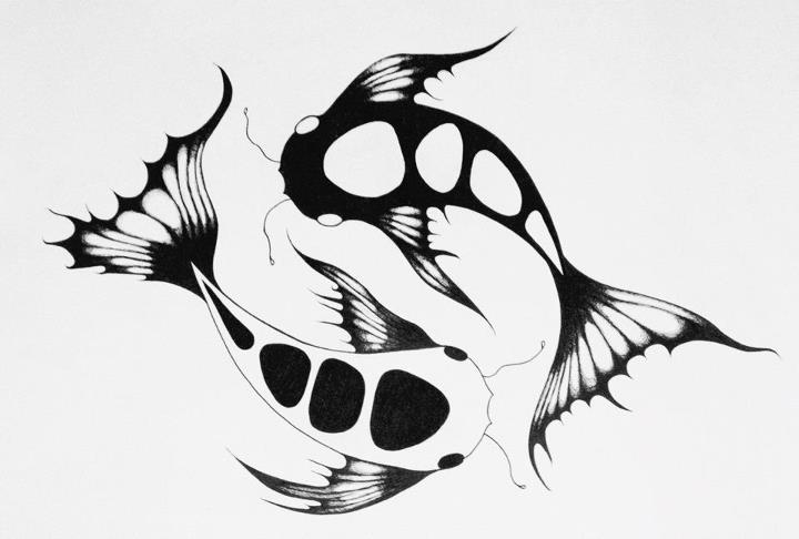 Fish vector tattoo for Yin and yang koi fish