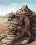 sand dragon by xedgerx
