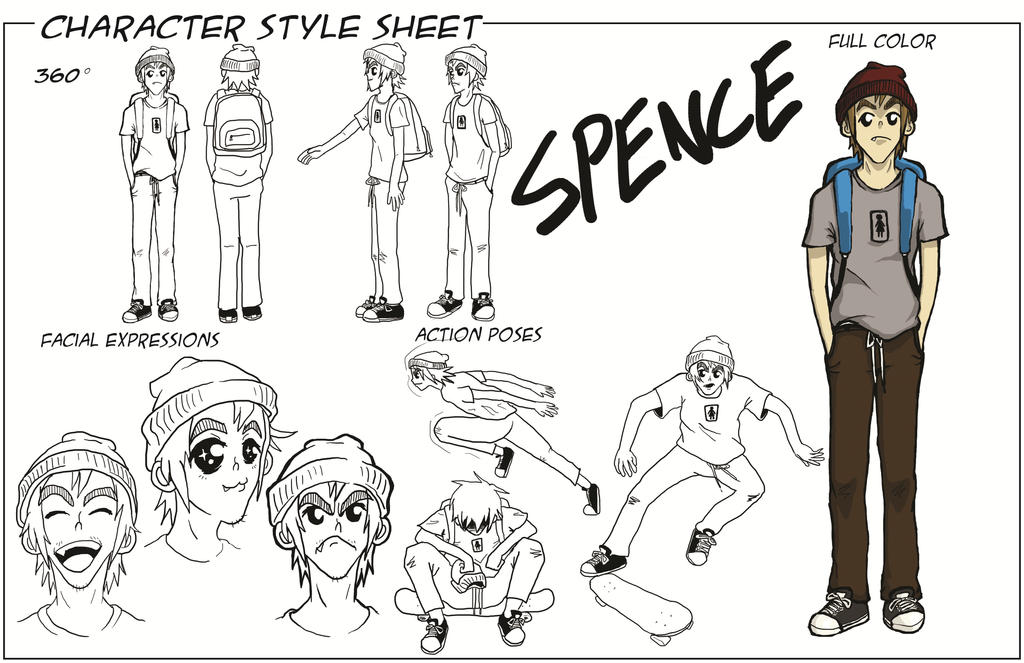 Character Design Styles Pdf : Spence character style sheet by toyspence on deviantart