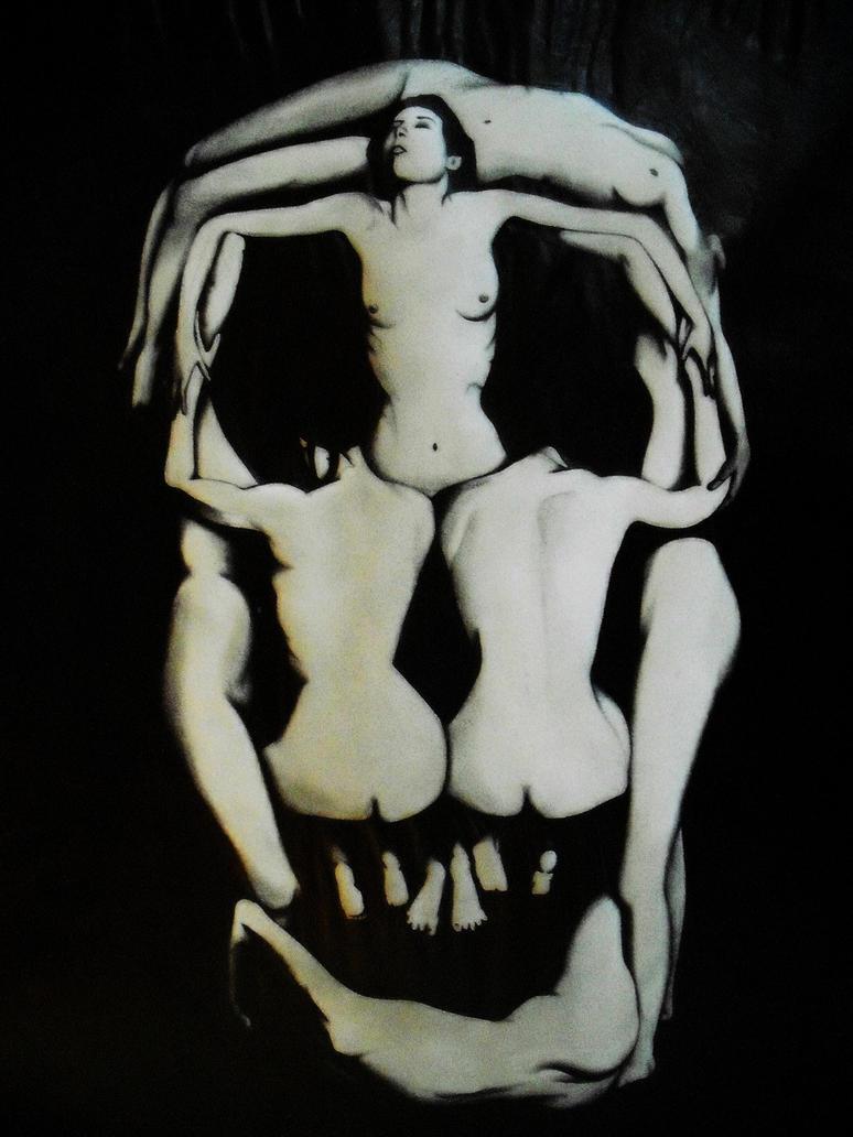 Tea and dolls (Dollmaker - Le Chapelier Fou) Dali_Skull_Darkened_by_redzeppelintheiv