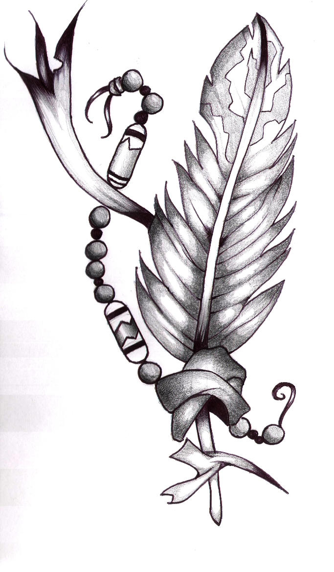 Indian Feather Tattoo Design Picture 3