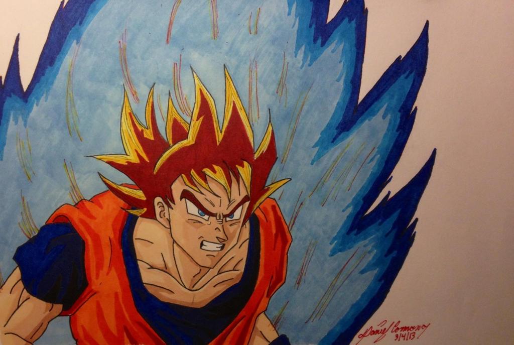Maybe super saiyan god by gokujr96 on deviantart - Sangoku super saiyan god ...