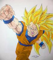 Ssj3 Dragon Fist Re-color by gokujr96