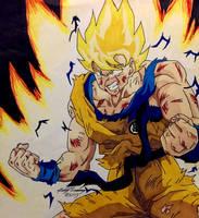 Beat Up Ssj Goku by gokujr96