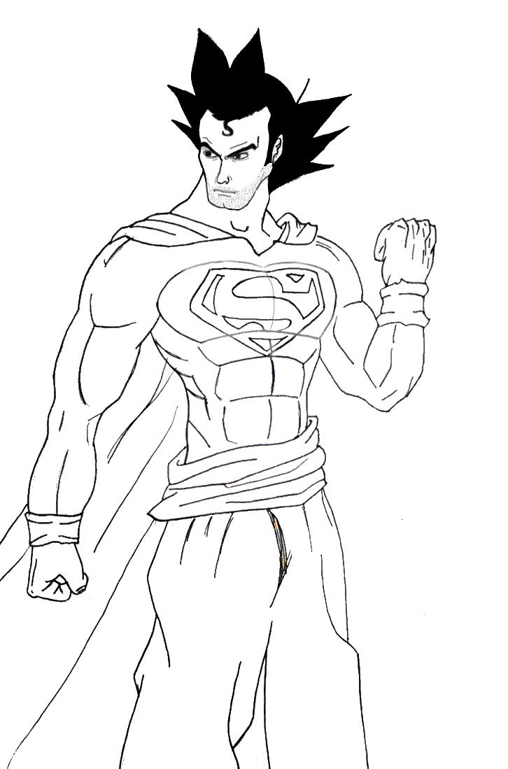 Superman and Goku Fusion by gokujr96