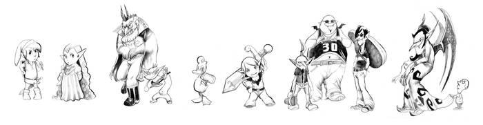 Zelda: Duck of Fate Characters