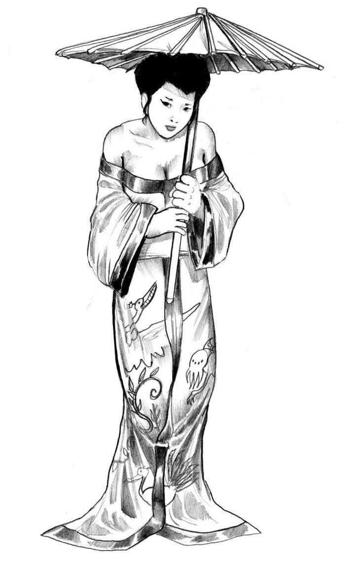Uncategorized Geisha Girl Drawing geisha gal by cluedog on deviantart cluedog
