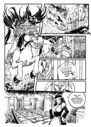 Overlord Bob: The Blood Knight Page One by cluedog